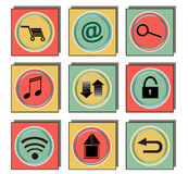 Applications icon. In vintage colors isolated Stock Photography