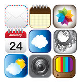Applications icons Royalty Free Stock Photo