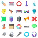 Applications icons set, cartoon style. Applications icons set. Cartoon set of 25 applications vector icons for web isolated on white background Royalty Free Stock Photography