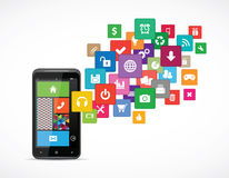 Applications for mobile platforms Royalty Free Stock Photos