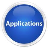 Applications premium blue round button. Applications isolated on premium blue round button abstract illustration Stock Images