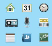 Applications and services icons. Typical smartphone icons Stock Photography