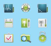 Applications and services icons. Typical smartphone icons Royalty Free Stock Photos
