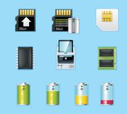 Applications and services icons Royalty Free Stock Photos