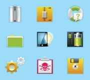 Applications and services icons Royalty Free Stock Images