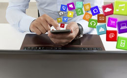 Applications on the Smart Phone Royalty Free Stock Image