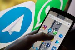 Applications sociales de réseau Photographie stock libre de droits