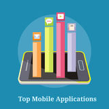 Applications supérieures de mobile d'Apps Illustration de Vecteur