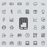 applications sur l'icône de comprimé Ensemble détaillé d'icônes minimalistic Conception graphique de la meilleure qualité Une des Images libres de droits