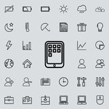 applications sur l'icône de comprimé Ensemble détaillé d'icônes minimalistic Conception graphique de la meilleure qualité Une des Photos libres de droits