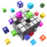 Applications and technology concept cubes Royalty Free Stock Image