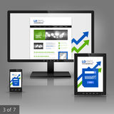 Applications template design Stock Photography
