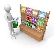 Applicazione/acquisto/vendita Immagine Stock Libera da Diritti