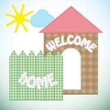 Applicazione decorata dalle toppe di multicoloured Immagini Stock