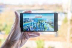 Applicazione del buildit della città di Sim Fotografie Stock