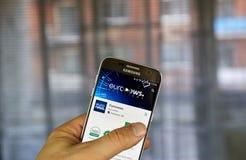 Applicazione del cellulare di Euronews Immagine Stock Libera da Diritti
