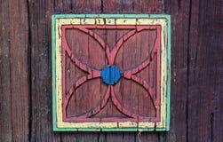 applicazione del fiore su una superficie di legno Fotografie Stock