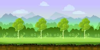 Applicazione del fondo del gioco 2d Disegno di vettore Immagine Stock Libera da Diritti