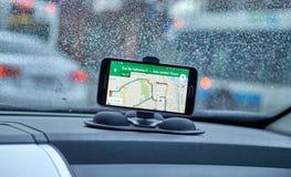 Applicazione del Google Maps Immagini Stock