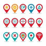 Applicazione del mondo moderno - raccolta delle icone di posizione - simboli di navigazione Fotografia Stock Libera da Diritti