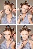 Applicazione del trucco Fotografia Stock