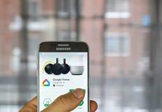Applicazione della casa di Google Fotografie Stock Libere da Diritti