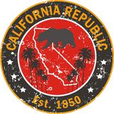 Applicazione della maglietta di amore di California Fotografie Stock Libere da Diritti