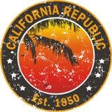 Applicazione della maglietta di amore di California Immagine Stock
