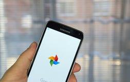 Applicazione delle foto di Google Immagine Stock