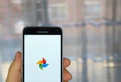 Applicazione delle foto di Google Fotografie Stock Libere da Diritti