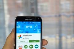 Applicazione delle foto di Google Fotografia Stock Libera da Diritti