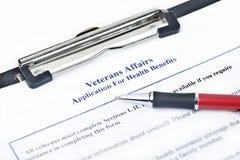 Applicazione delle indennità-malattia di VA Fotografie Stock