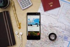 Applicazione di Airbnb Fotografie Stock Libere da Diritti