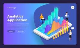Applicazione di analisi dei dati royalty illustrazione gratis