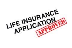 Applicazione di assicurazione sulla vita fotografia stock libera da diritti