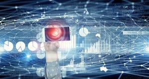Applicazione di attività bancarie online Media misti Fotografie Stock Libere da Diritti