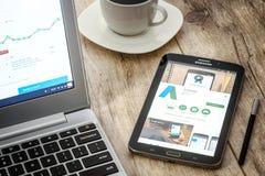 Applicazione di Google AdWords Fotografia Stock