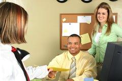 Applicazione di intervista di job Fotografia Stock Libera da Diritti