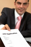 Applicazione di job Fotografia Stock Libera da Diritti