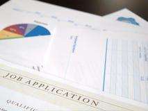 Applicazione di lavoro e documenti Fotografia Stock Libera da Diritti