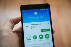 Applicazione di lite del messaggero di Facebook nel deposito del gioco di Google immagini stock libere da diritti