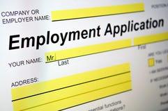 Applicazione di occupazione Fotografia Stock