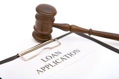 Applicazione di prestito Immagini Stock Libere da Diritti