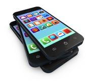Applicazione di Smartphone Fotografie Stock Libere da Diritti