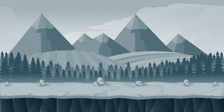 Applicazione di stile piano del fondo del gioco 2d Illustrazione per il vostro, progetto di vettore illustrazione di stock