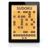 Applicazione di sudoku del pc della compressa illustrazione di stock