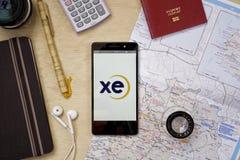 Applicazione di XE (scambio) Fotografie Stock