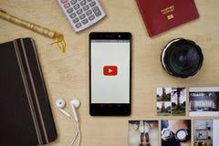 Applicazione di YouTube Fotografia Stock