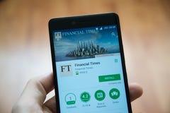 Applicazione finanziaria di periodi nel deposito del gioco di Google immagine stock