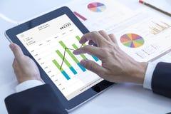 Applicazione mobile nell'affare e nell'investimento fotografie stock libere da diritti
